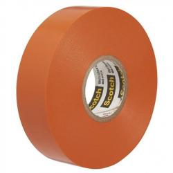 VINYL COLOR CODING TAPE, ORANGE, 3/4IN X 66FT