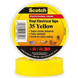 VINYL COLOR CODING TAPE, YELLOW, 3/4IN X 66FT
