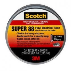 Scotch Super 88 Electrical Tape, 3/4 in. x 66 ft. x 0.0085 in.
