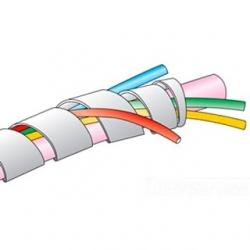 FIT WIRE MANAGEMENT CLEAR POLYETHYLENE 100 FT