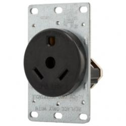RECP SINGLE FLUSH 30A 125V 2P3W BR EWD 1263-BOX RECP SINGLE FLUSH 30A