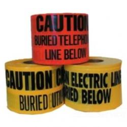 3IN X 1000FT UNDERGROUND TAPE 4 MIL ELECTRIC - RED