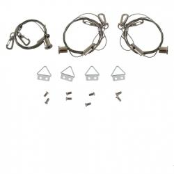 KEYSTONE TECHNOLOGIES KT-PLED-CABLE-KIT CABLE HANGING KIT FOR LED PANEL LIGHTS, INCLUDES 3 CABLE SETS