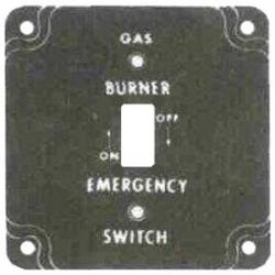 4IN SQ. GAS BURNER COVER
