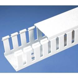 SLOTTED DUCT, PVC,1IN X1.5IN X6FT ,WHT