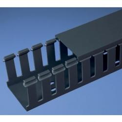 SLOTTED DUCT, PVC,3IN X3IN X6FT ,BLK