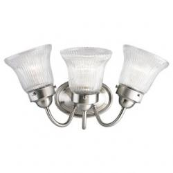 Economy Fluted Glass Three-Light Bath & Vanity(PER QUOTE#32040372)