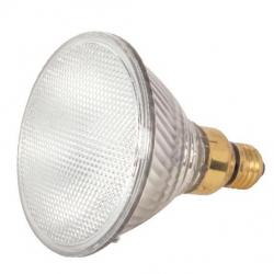 60 WATT HALOGEN PAR38 CLEAR 1500 AVERAGE RATED HOURS 1090 LUMENS MEDIUM SKIRTED BASE 120 VOLTS