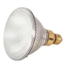 70 WATT HALOGEN PAR38 CLEAR 1500 AVERAGE RATED HOURS 1380 LUMENS MEDIUM SKIRTED BASE 120 VOLTS