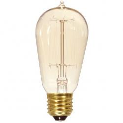 60 WATT ST19 INCANDESCENT CLEAR 3000 AVERAGE RATED HOURS 240 LUMENS MEDIUM BASE 120 VOLTS