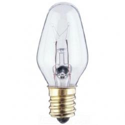 4W C7 INCANDESCENT CLEAR E12 (CANDELABRA) BASE, 120 VOLT, CARD, 2-PACK